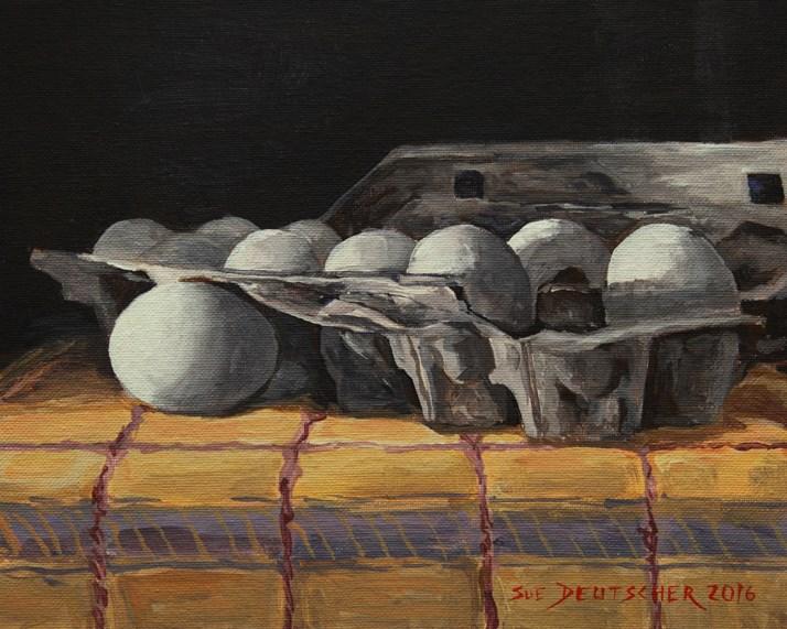 """""""Eggs"""" original fine art by Sue Deutscher"""