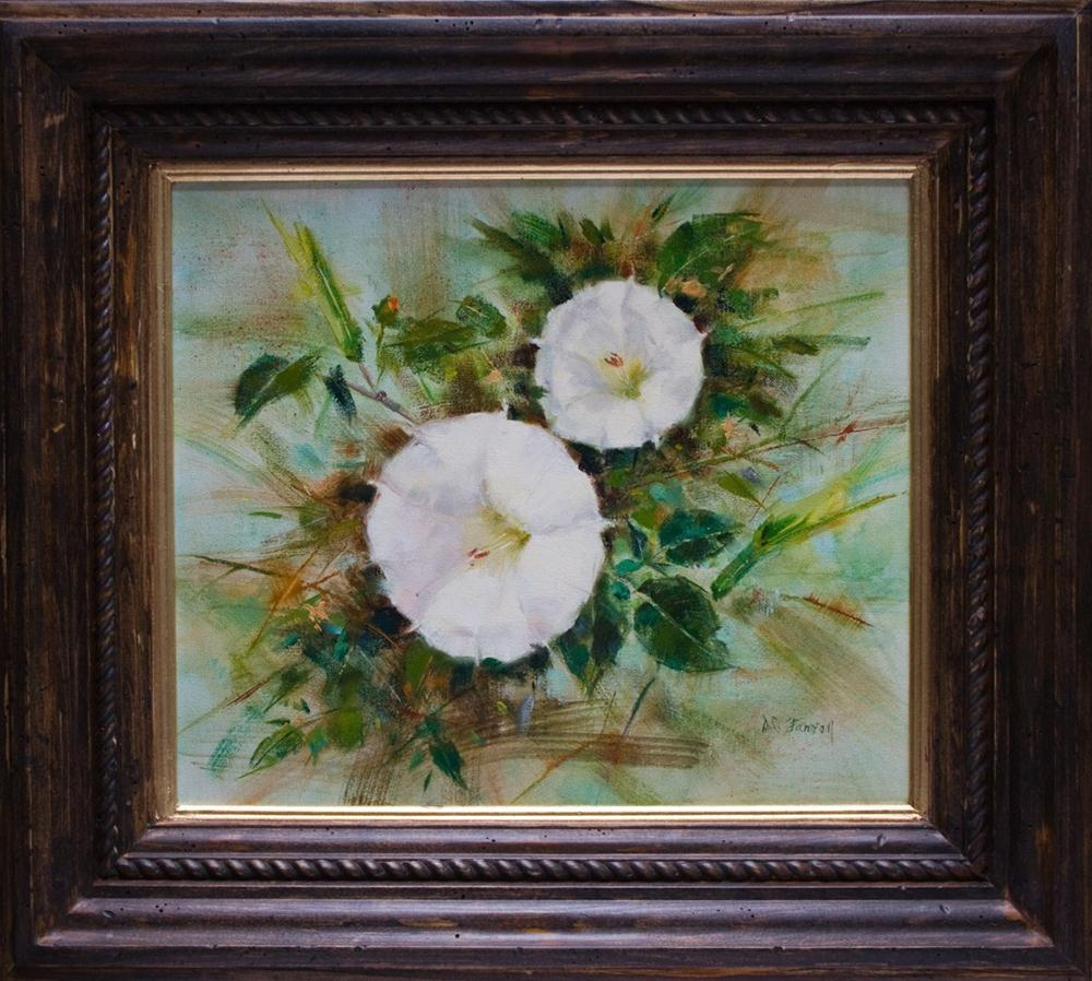 """Cam's Moonflowers"" original fine art by Donna C Farrell"