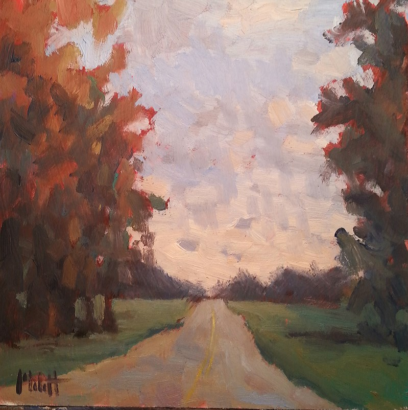 """Autumn Impressionist Landscape Daily Oil Painting"" original fine art by Heidi Malott"