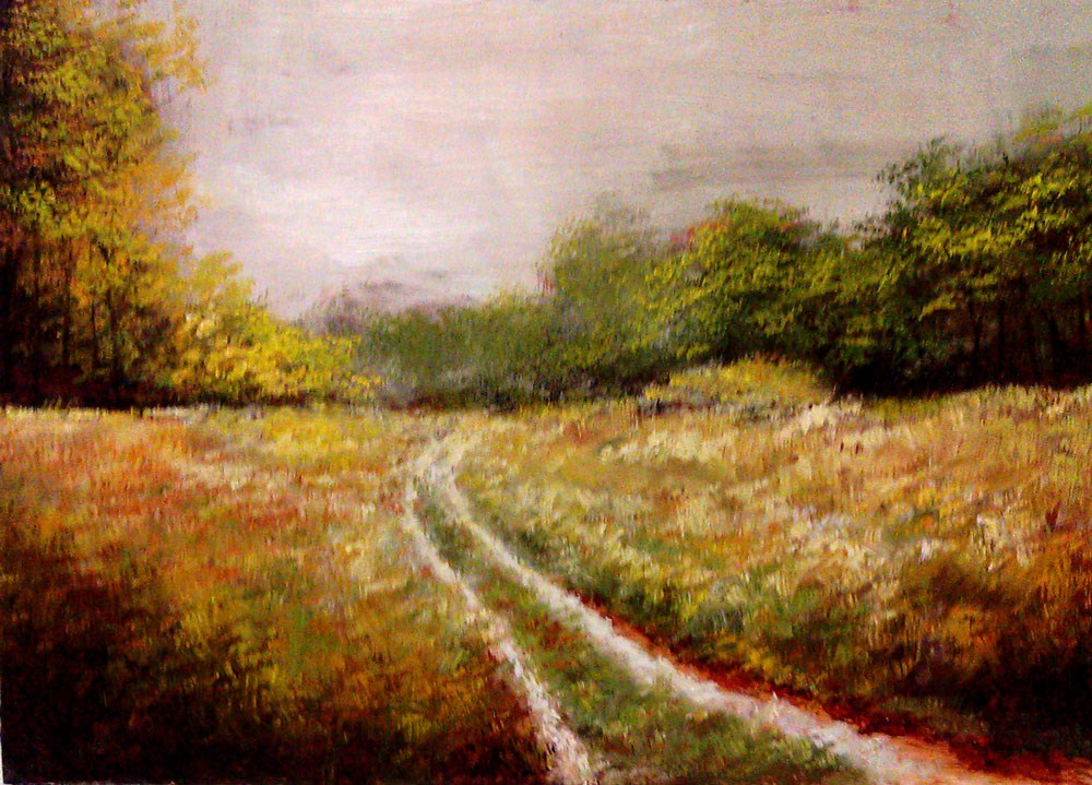 """Old Country Road"" original fine art by Bob Kimball"