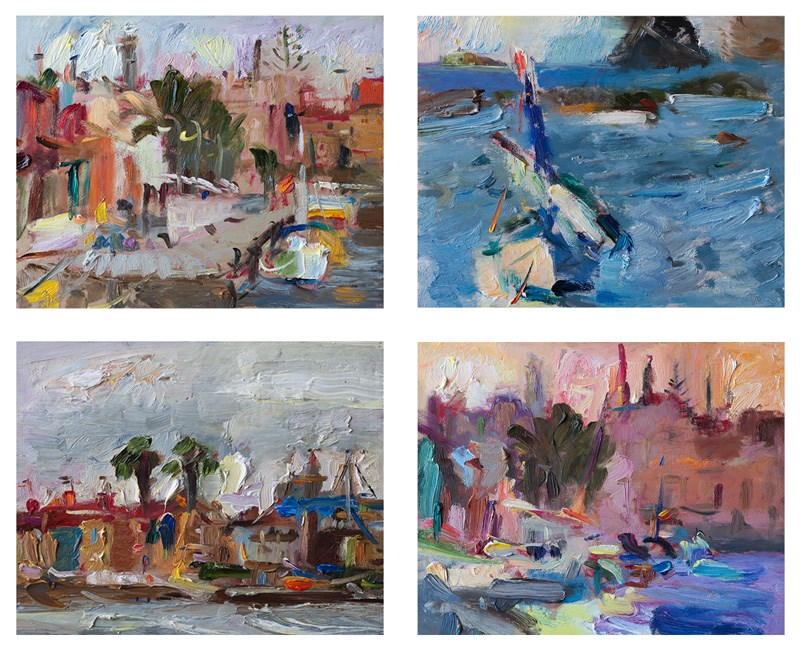 """Mediterranean Seascapes"" original fine art by Anna  Fine Art"