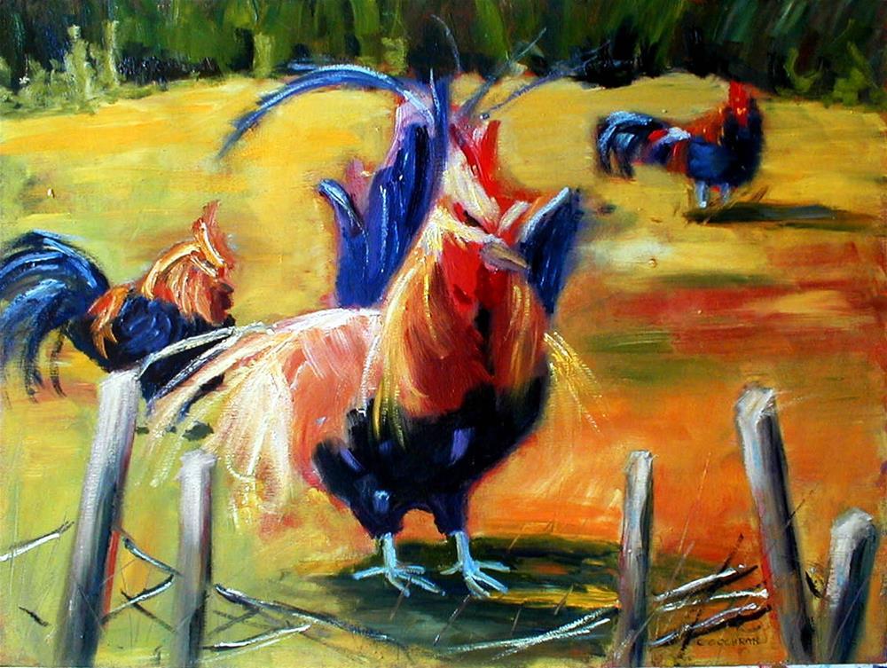 """King of the Hill"" original fine art by Carol Cochran"