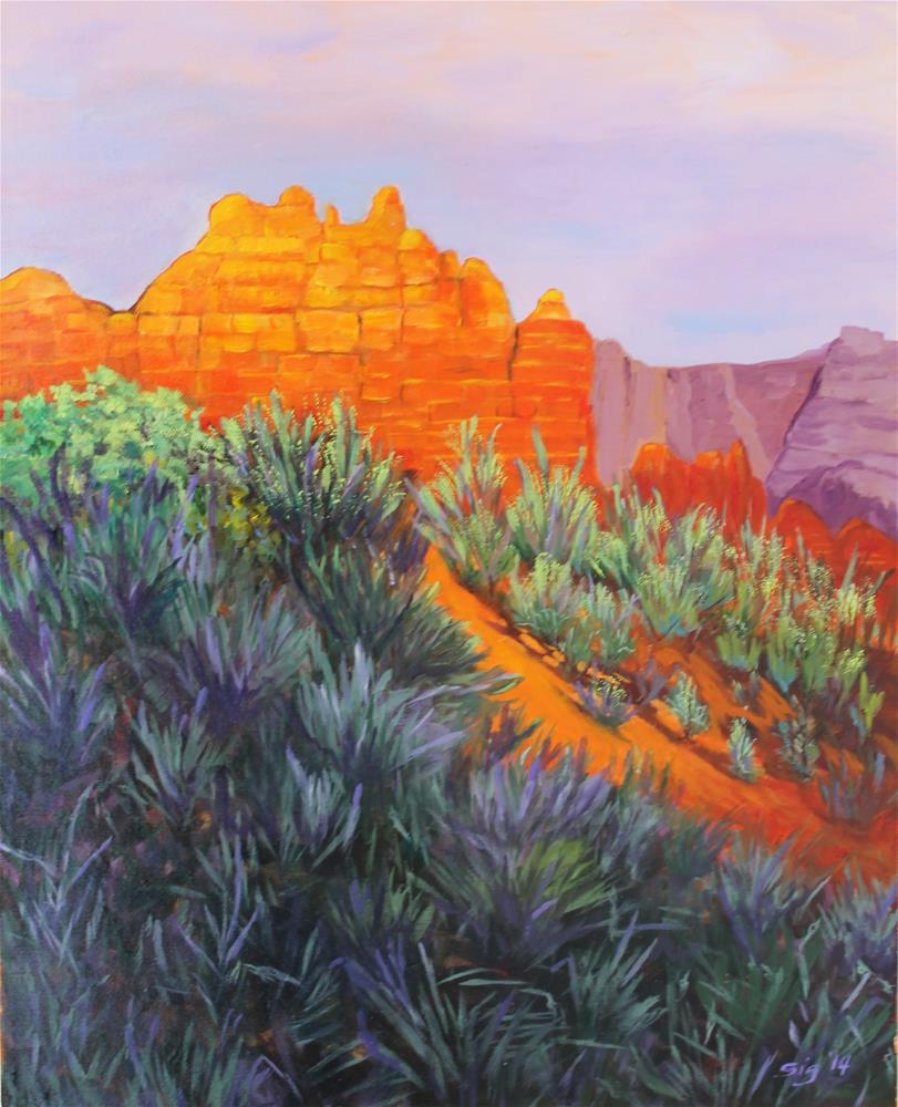 """Sedona Retreat"" original fine art by Sigrid Victor"