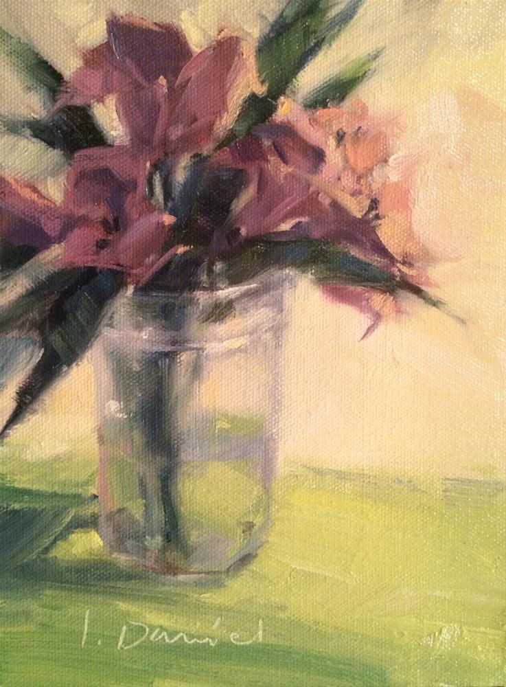 """Peruvian Lilies Demo - Twenty-two of 30 in 30"" original fine art by Laurel Daniel"
