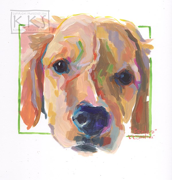 """Brodie, a Painted Sketch"" original fine art by Kimberly Santini"