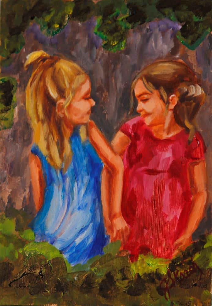 """Best Friends"" original fine art by Jennifer Koach"