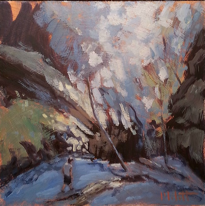 """Canyon Hike Turkey Run State Park Indiana artist Heidi Malott"" original fine art by Heidi Malott"
