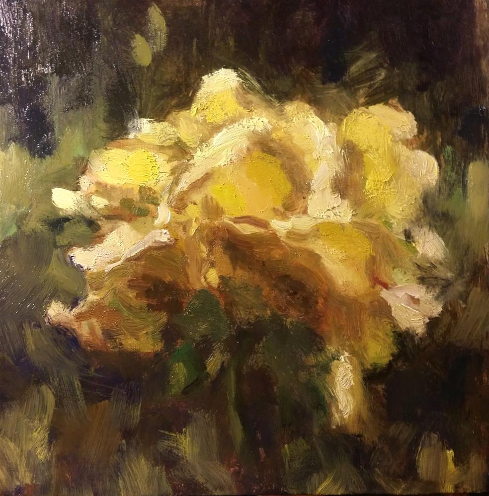 """Yellow rose"" original fine art by Aleksandra Uzarek"