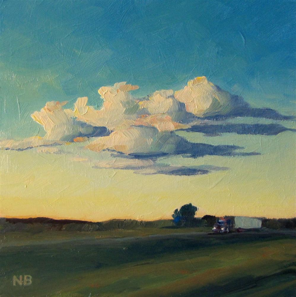 """Goodnight Clouds"" original fine art by Nora Bergman"