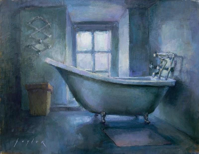 """""""Baignoire Chez Nous"""" original fine art by Julie Snyder"""