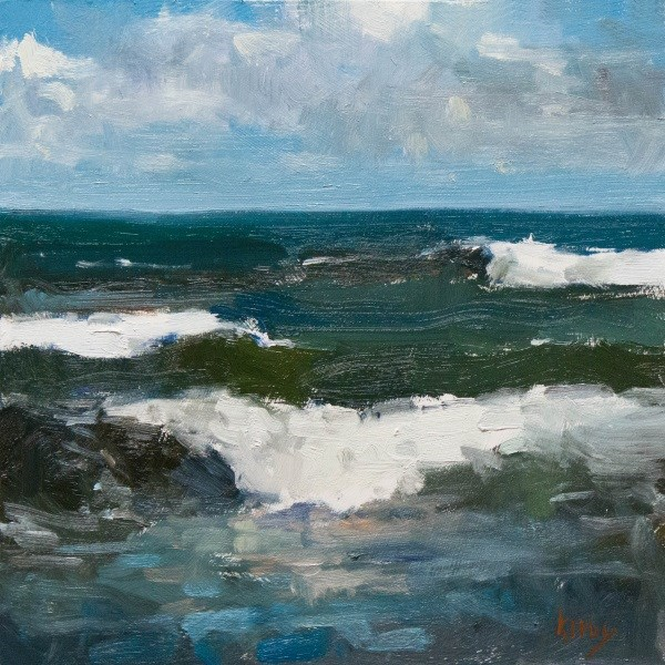 """Open Sea"" original fine art by Randall Cogburn"