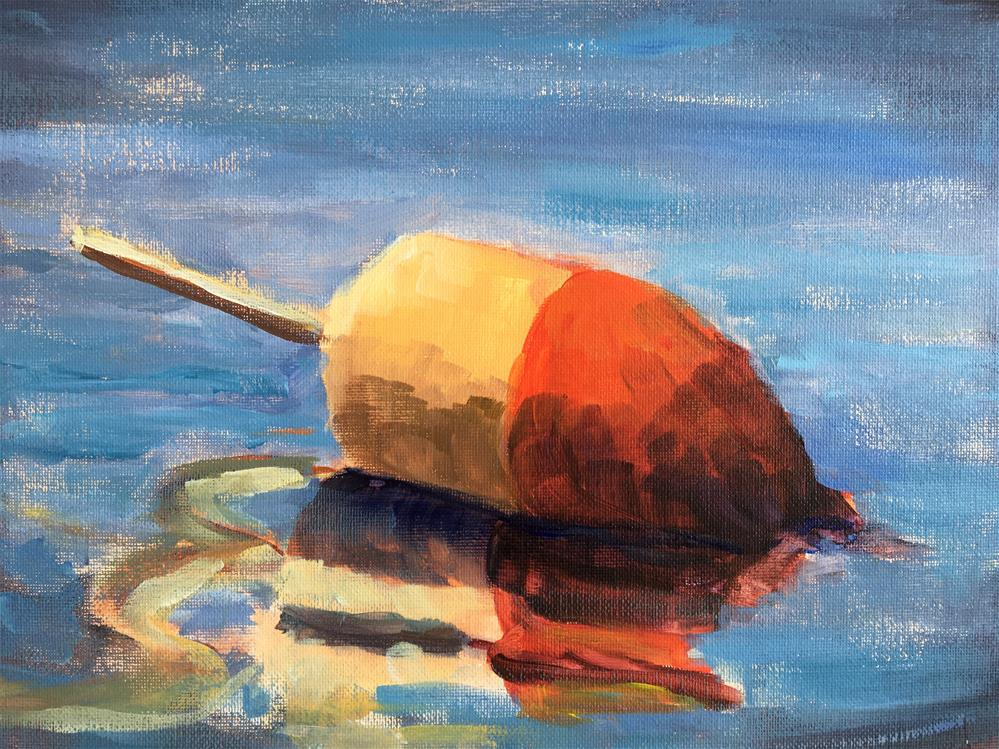 """Lobster Buoy"" original fine art by Susan Elizabeth Jones"