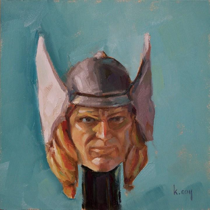 """Thor Pez"" original fine art by Kathleen Coy"