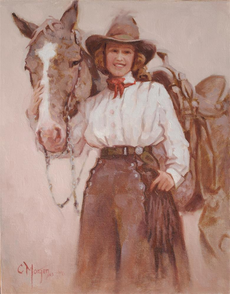 """Cowgirl Memories #9"" original fine art by Cecile W. Morgan"