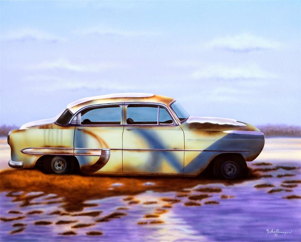 """Wasted on the Way"" original fine art by Fred Schollmeyer"