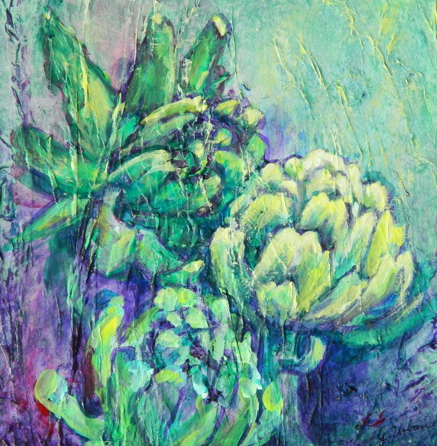 """Artichoke 1"" original fine art by Gloria Urban"