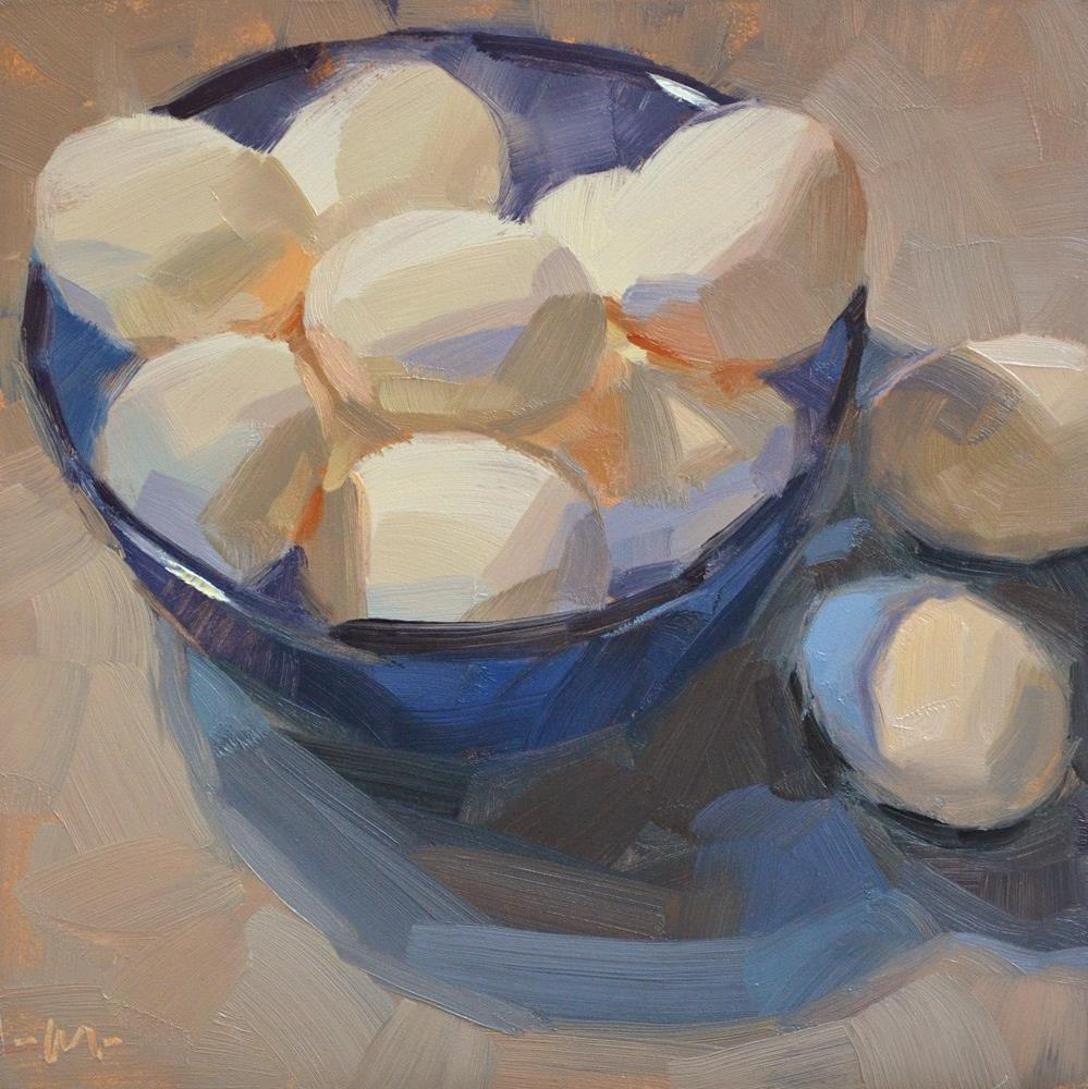 """Blue Bowl of Happiness"" original fine art by Carol Marine"
