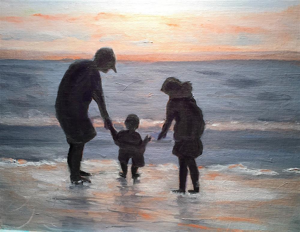 """Tickling Lil' Feet"" original fine art by Patty Barnes"