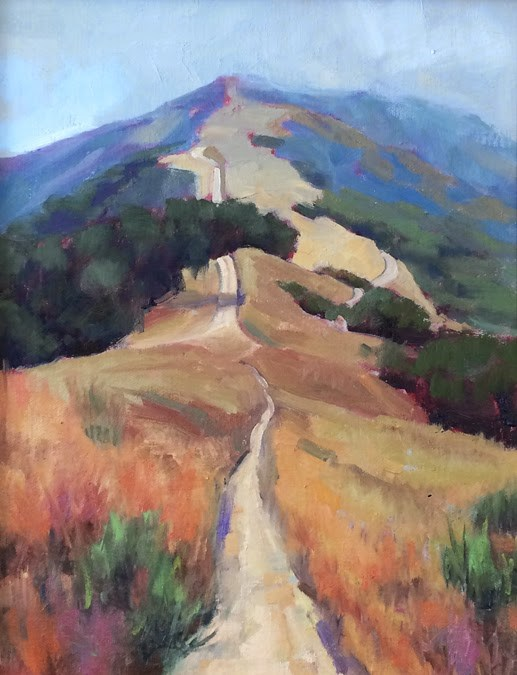 """Hiking on Mt. Tam"" original fine art by Deborah Newman"