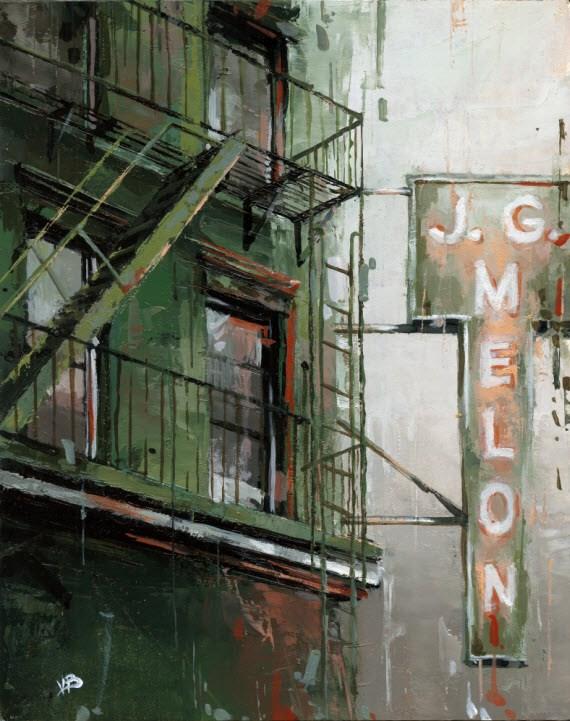 """""""J.G. Melon"""" original fine art by Victor Bauer"""