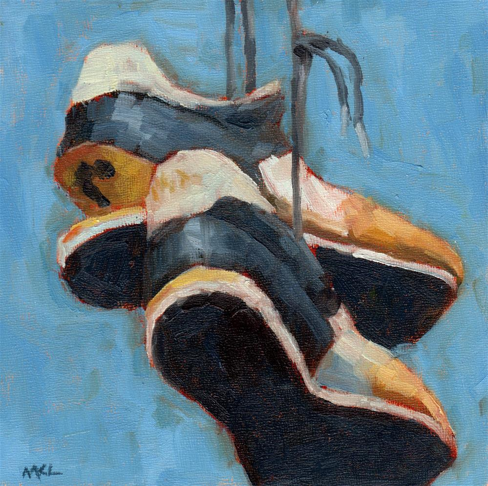 """Soleless Shoes"" original fine art by Marlene Lee"