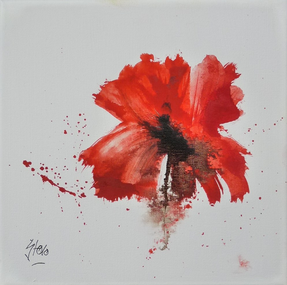 """Poppy II"" original fine art by Martin Stephenson"