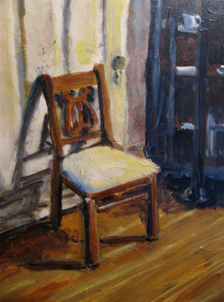 """Chair at Rippavilla"" original fine art by Susan Elizabeth Jones"