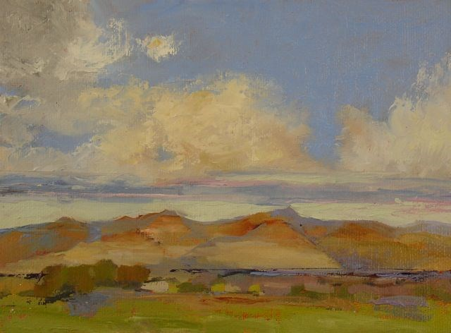 """SW Cloud Study 2"" original fine art by Susan Hammer"