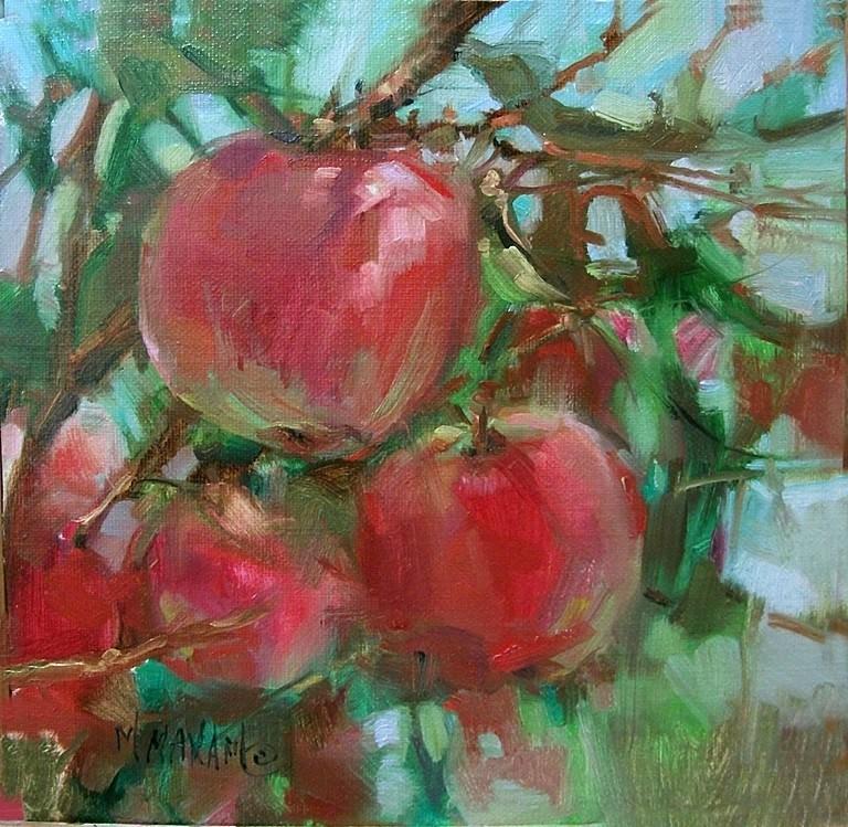 """Pink Lady"" original fine art by Mary Maxam"