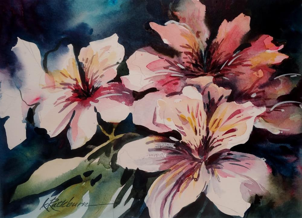 """Flowers from Jocelyn"" original fine art by Kathy Los-Rathburn"