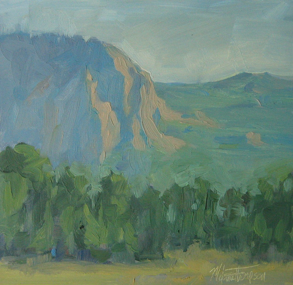 """Last Light on Peoh Point"" original fine art by Melanie Thompson"