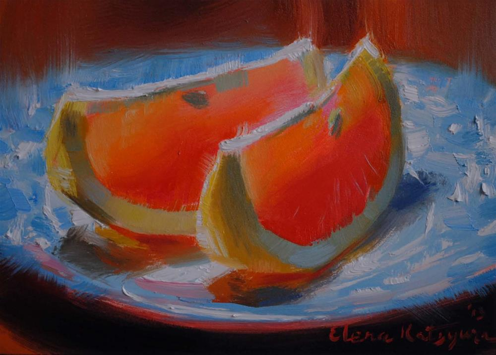 """Taste of Sunshine"" original fine art by Elena Katsyura"