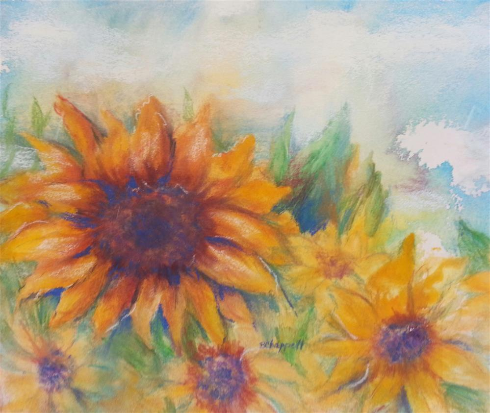 """Sunflower Play"" original fine art by Becky Chappell"
