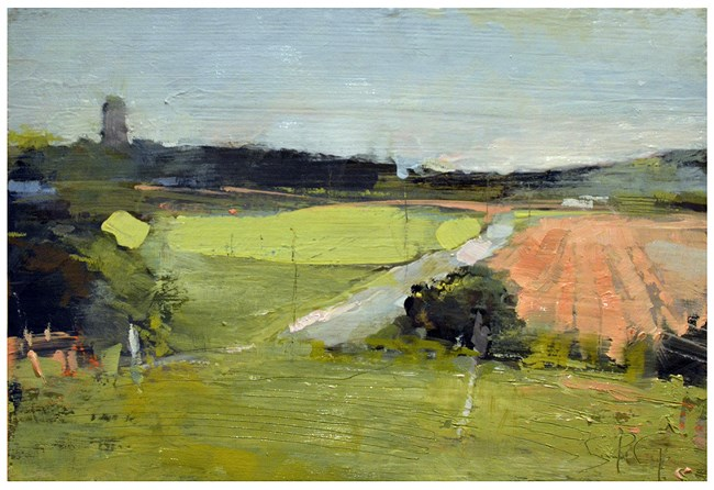 """Farm fields study"" original fine art by Steven Goodman"