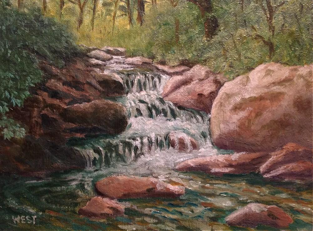 """Appalachian Mountain Stream"" original fine art by James West"