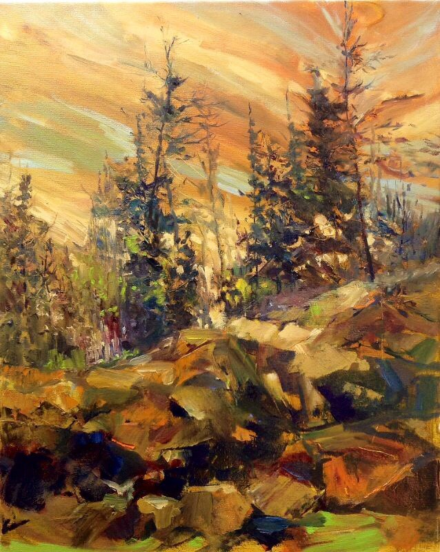 """Northern Gold"" original fine art by Cathy Boyd"