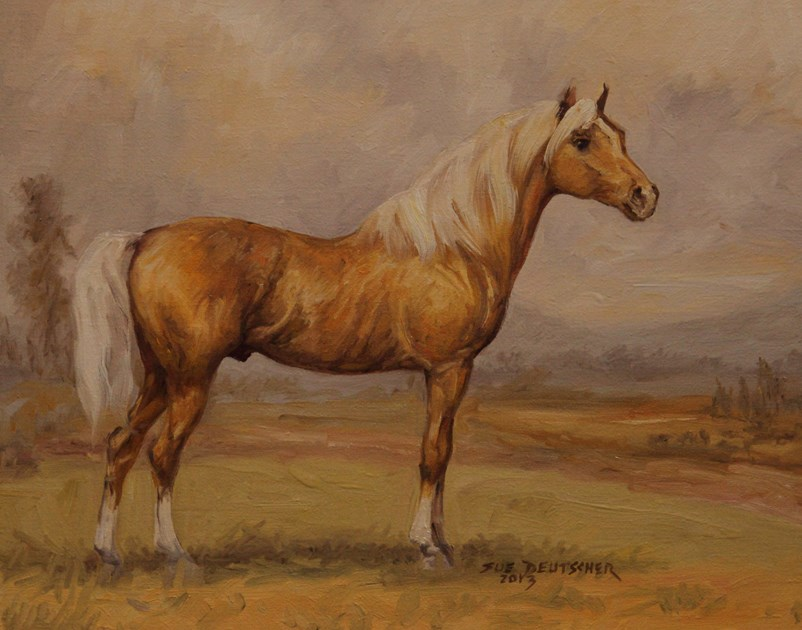 """""""Palomino"""" original fine art by Sue Deutscher"""
