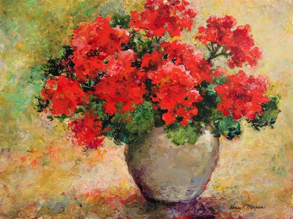 """Seeing Red"" original fine art by Nancy F. Morgan"