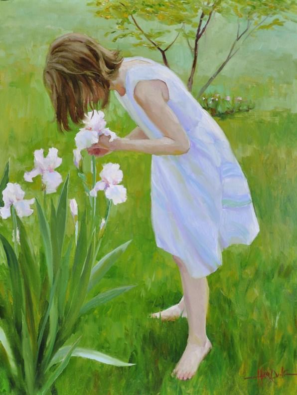 """Princess Irises"" original fine art by Scott Harding"