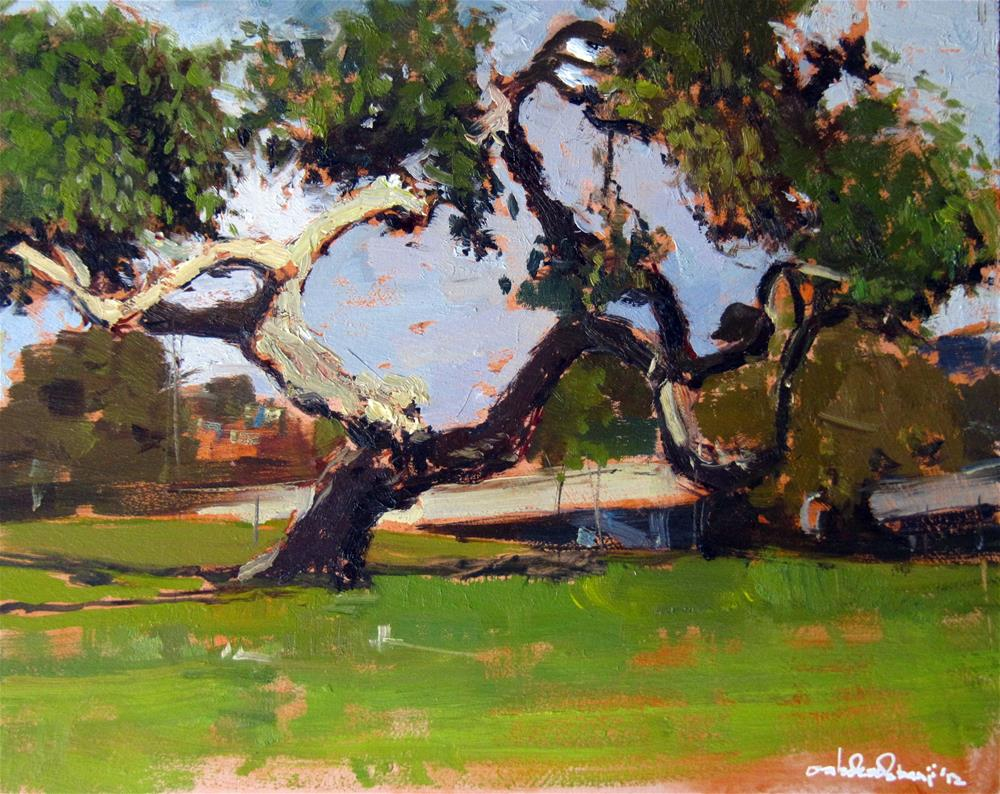 """The Mulberry Tree, Abbey Wood"" original fine art by Adebanji Alade"