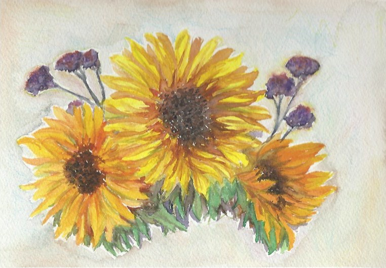 """Sunflowers"" original fine art by Laura Denning"