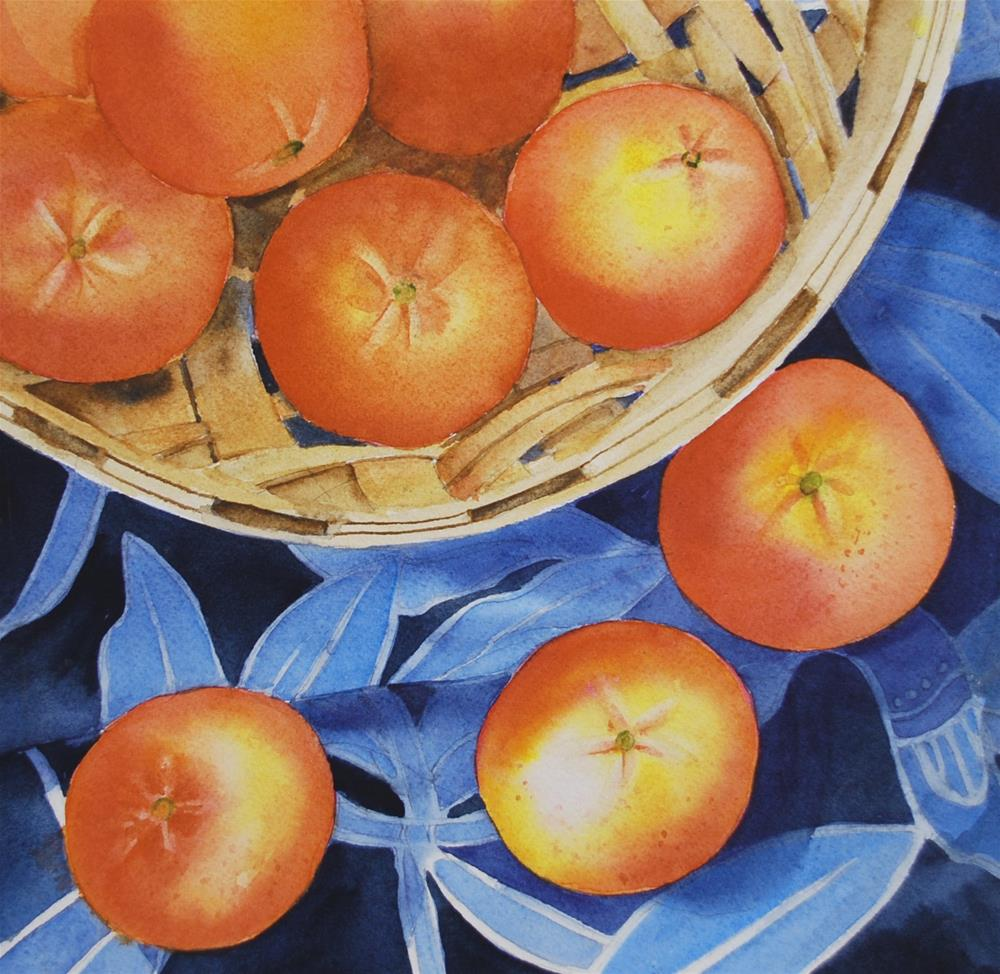 """Tangerines"" original fine art by Mary Anderson"