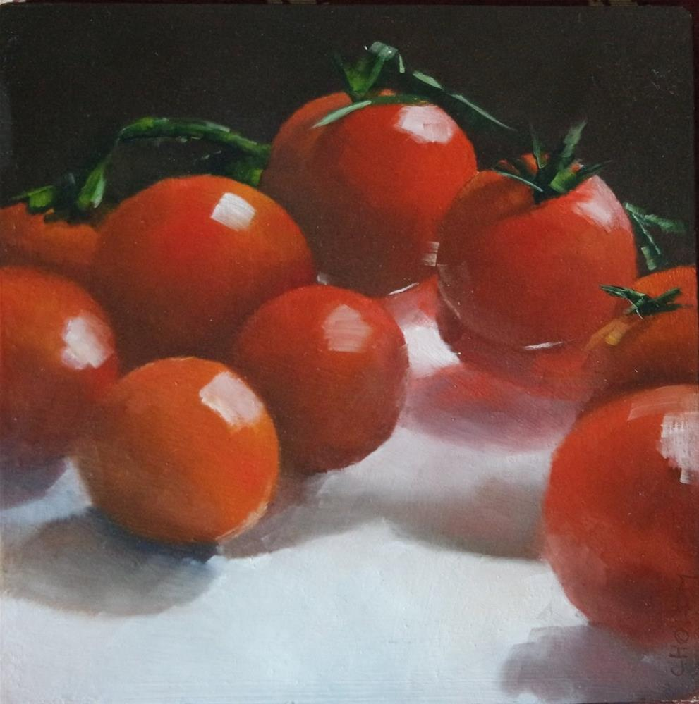 """Cherry Tomatoes I"" original fine art by Cathy Holtom"