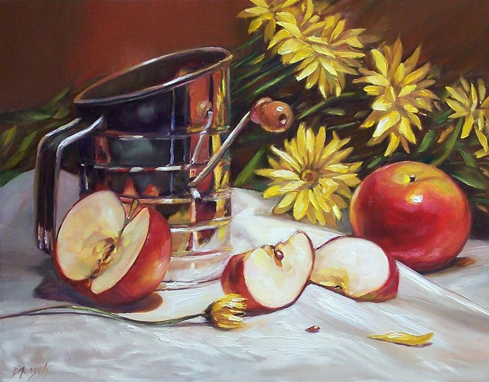 """Flour Sifter and Apples"" original fine art by Donna Munsch"