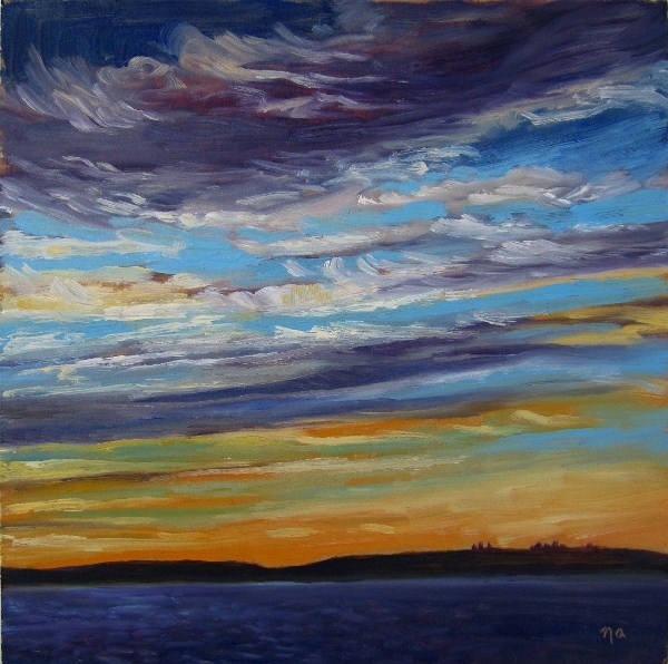 """Day's End, Waskesiu"" original fine art by Nicki Ault"