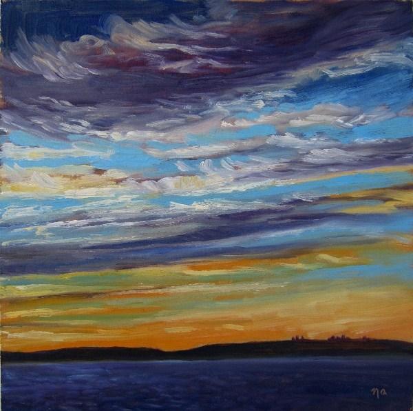 Day's End, Waskesiu original fine art by Nicki Ault