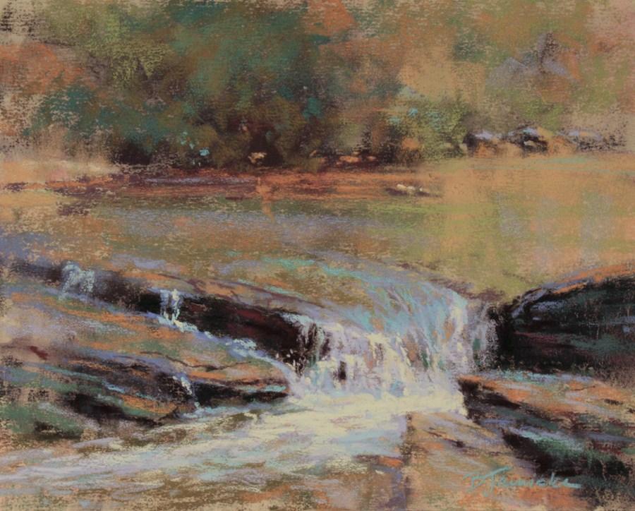 """""""A Little River Music II"""" original fine art by Barbara Jaenicke"""