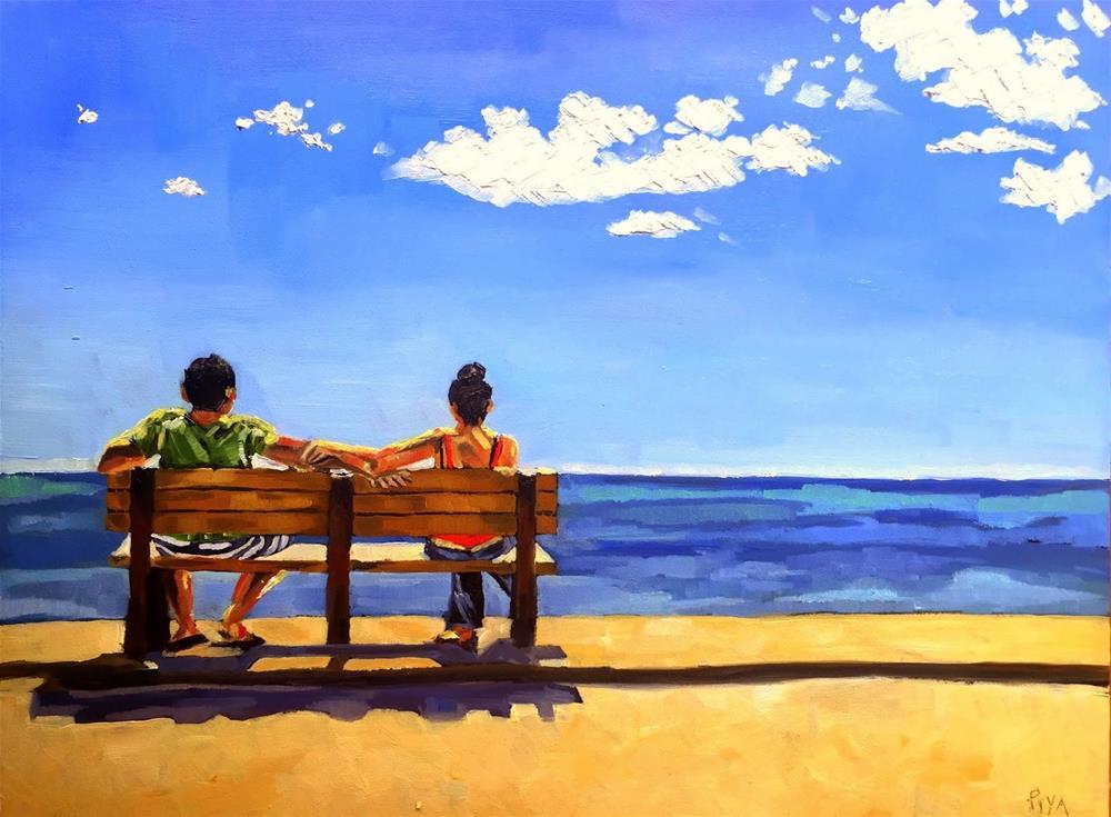 """""""Serenity """" original fine art by Piya Samant"""