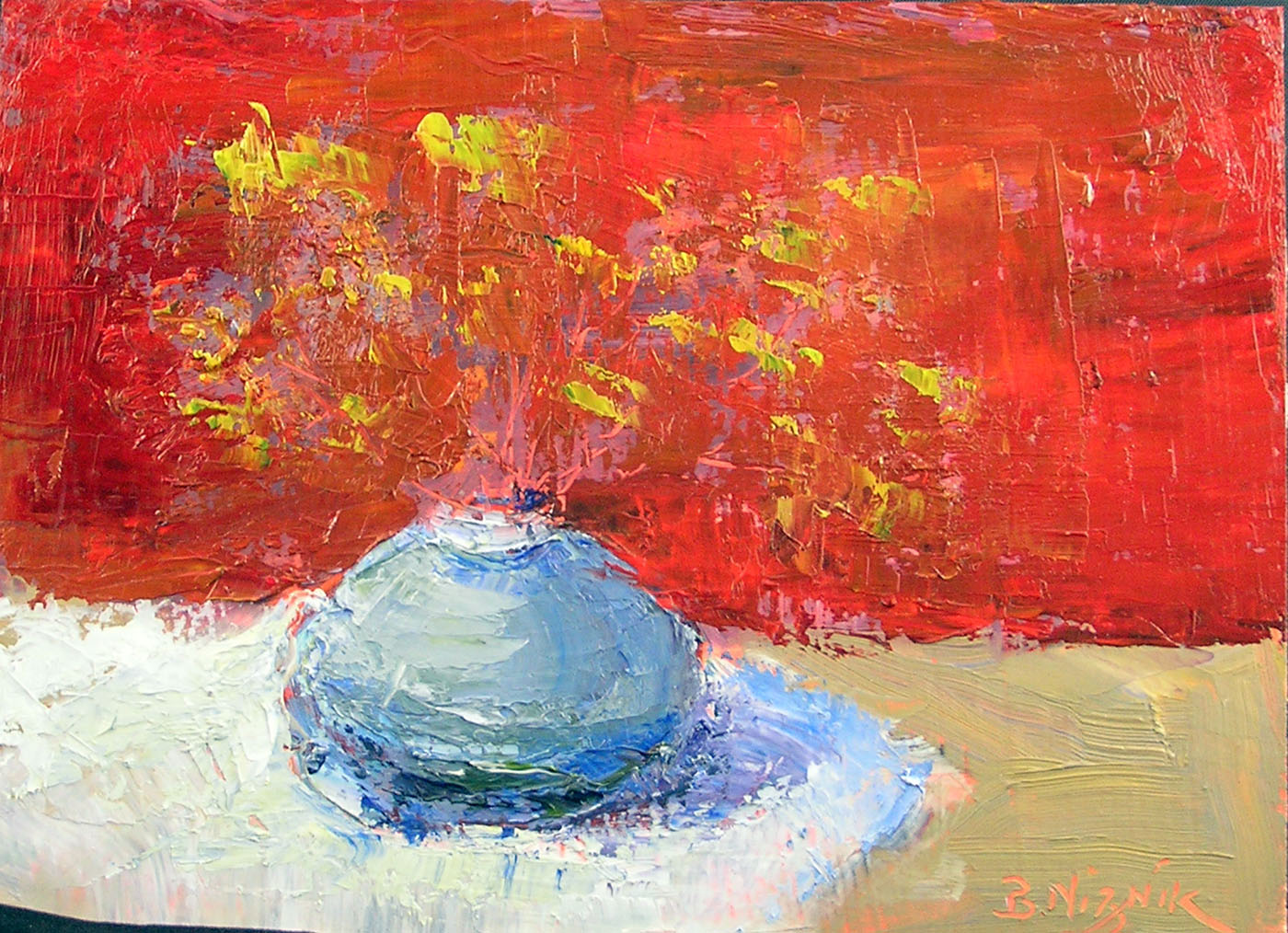 """Little Blue Vase"" original fine art by Blanche Niznik"