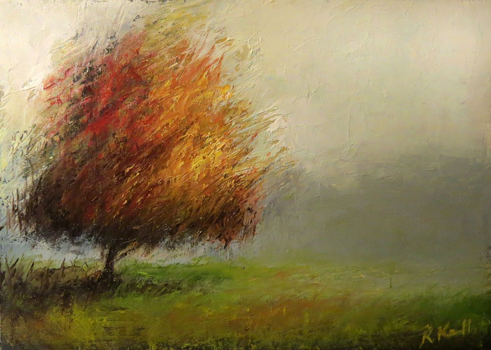 """Lonesome Tree"" original fine art by Bob Kimball"